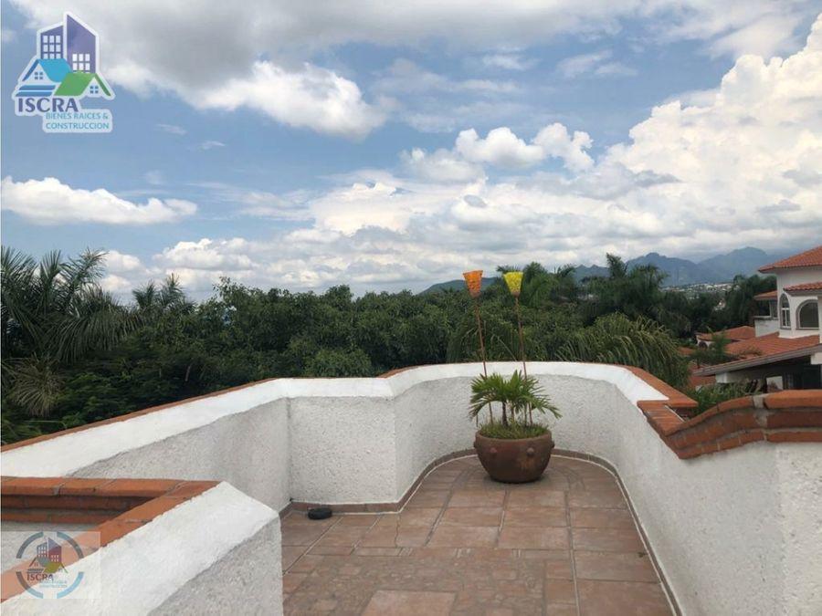 residencia en lomas de cocoyoc con vista panoramica