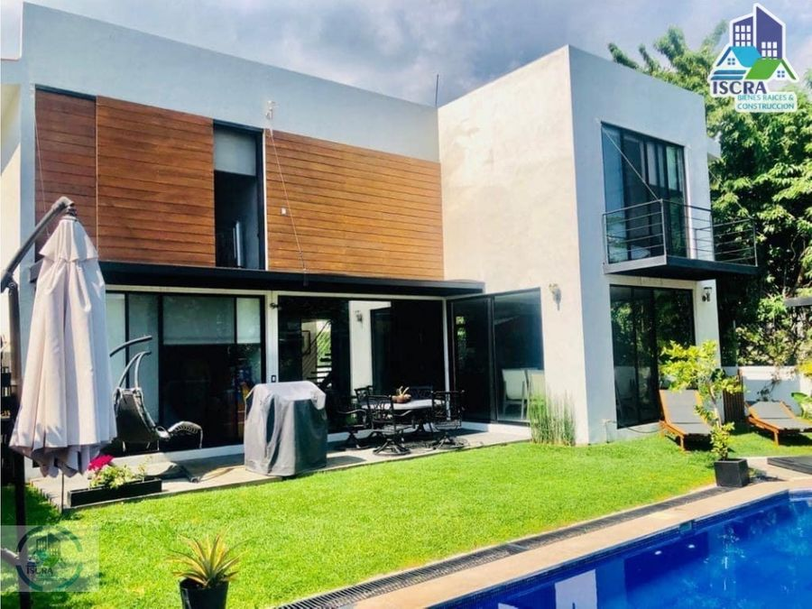 bonita y moderna casa en lomas de cocoyoc