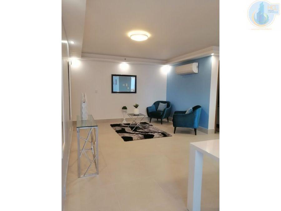 alquiler apartamento amoblado contemporaneo en obarrio
