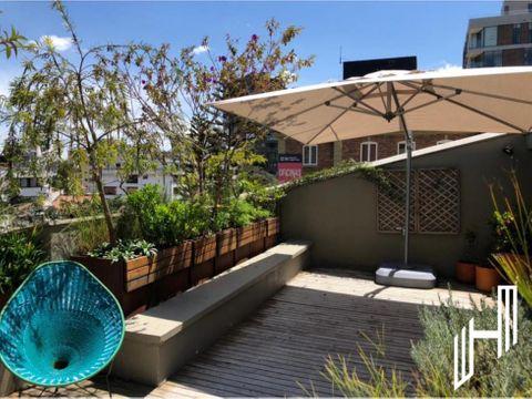 arriendo apartamento con terraza y jardin en nogal