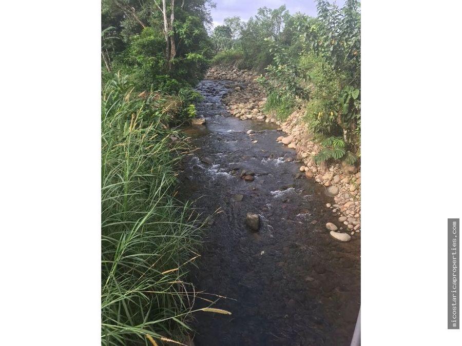 terreno en aguas zarcas de san carlos