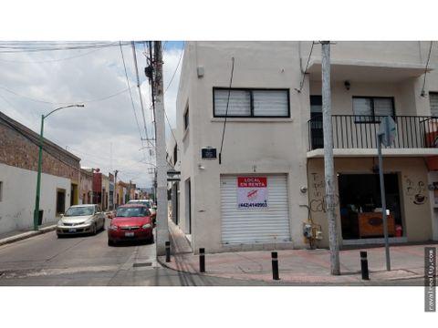 local comercia en renta en esquina doble acceso