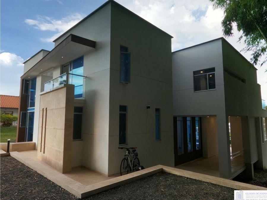 hermosa casa campestre nueva unidad cerrada