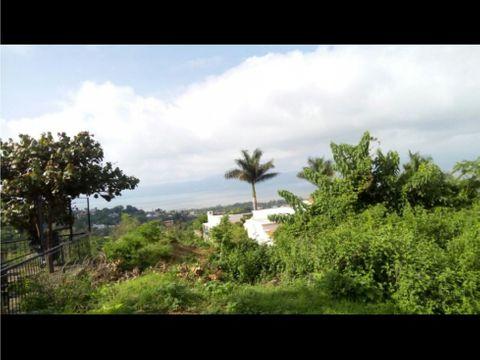 terreno en venta en chapala vista al lago
