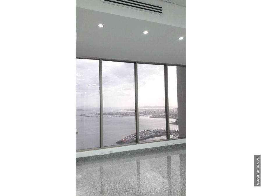 se alquila oficina frente al mar en torre bicsa avenida balboa