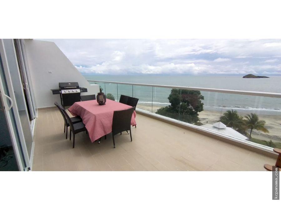 se alquila apartamento de playa santa clara residences