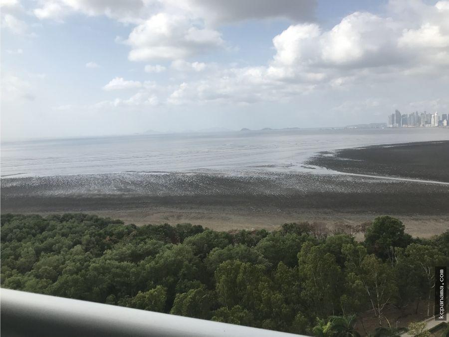 se vende o alquila apartamento lb pearl frente al mar costa del este