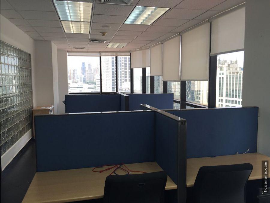 se alquila amplia oficina en calle 50