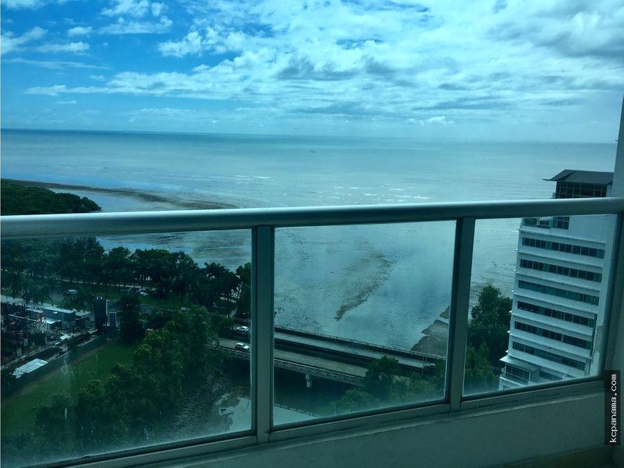 alquiler bello apto amoblado en riverside con vista al mar