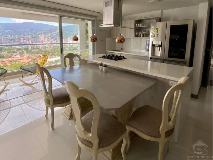 apartamento con vista espectacular y muy buenos acabados en suramerica