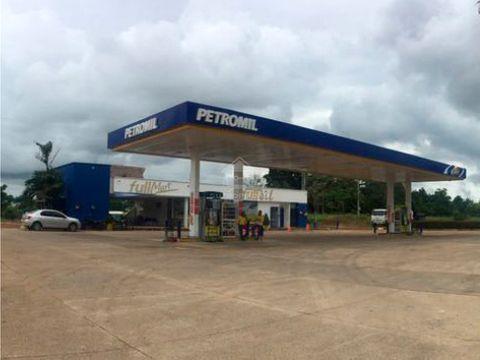 estacion de gasolina rentable en via a la costa