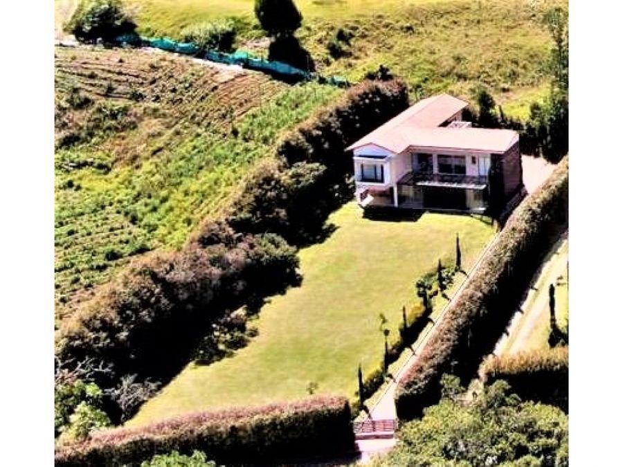 vendo grandiosa casa campestre en el alto de palmas