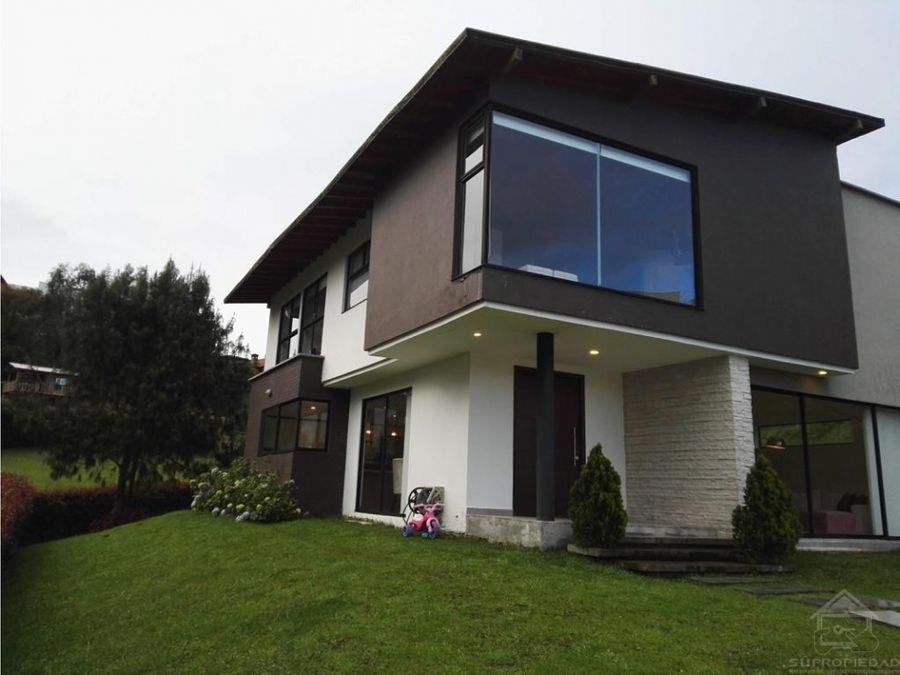 vendo casa moderna en san luis el escobero envigado