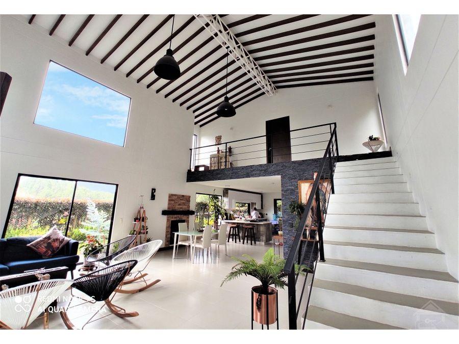 vendo casa moderna y economica alto del escobero envigado