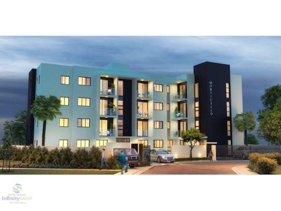 hermoso residencial de apartamentos en santiago