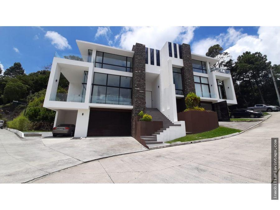 casa en venta condominio las cumbres zona 16