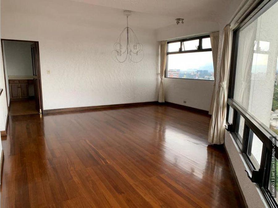 en renta apartamento edificio zona 15 vh2