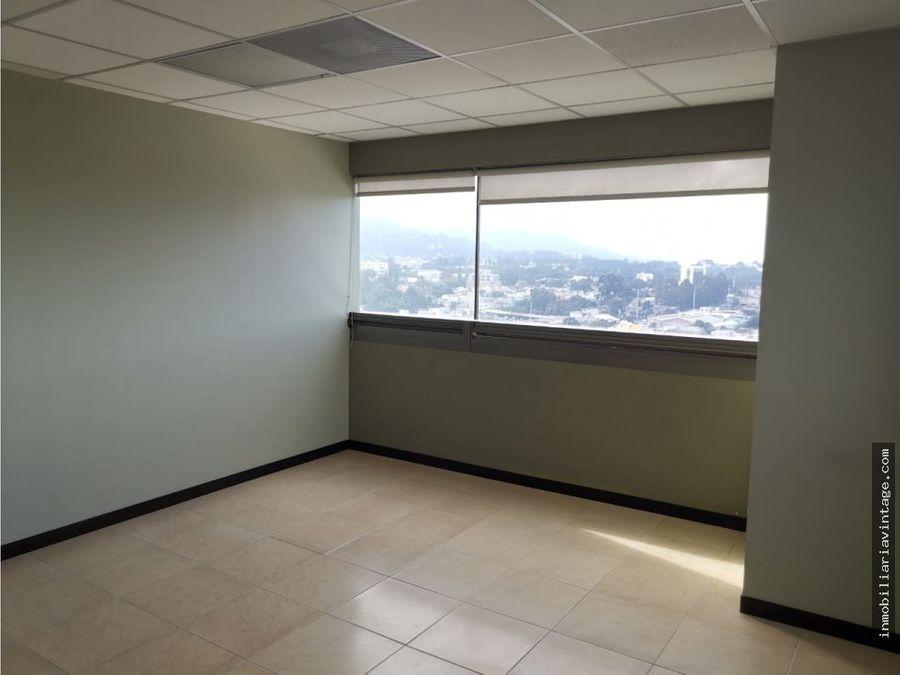 en renta amplia oficina en edificio zona 10