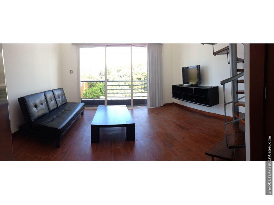 apartamento en renta 1 dormitorio amueblado lindora zona 16