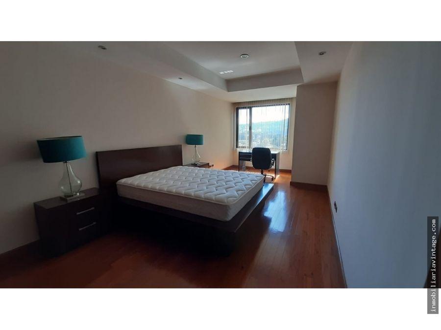 apartamento exclusivo zona 14 totalmente amueblado