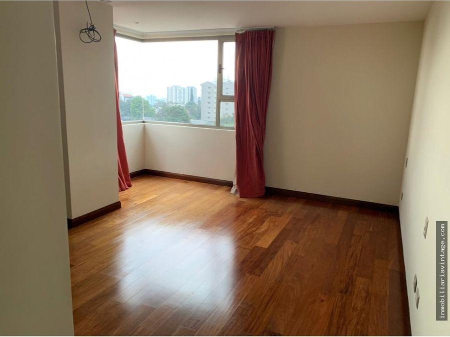 apartamento en edificio zona 15 vista hermosa i