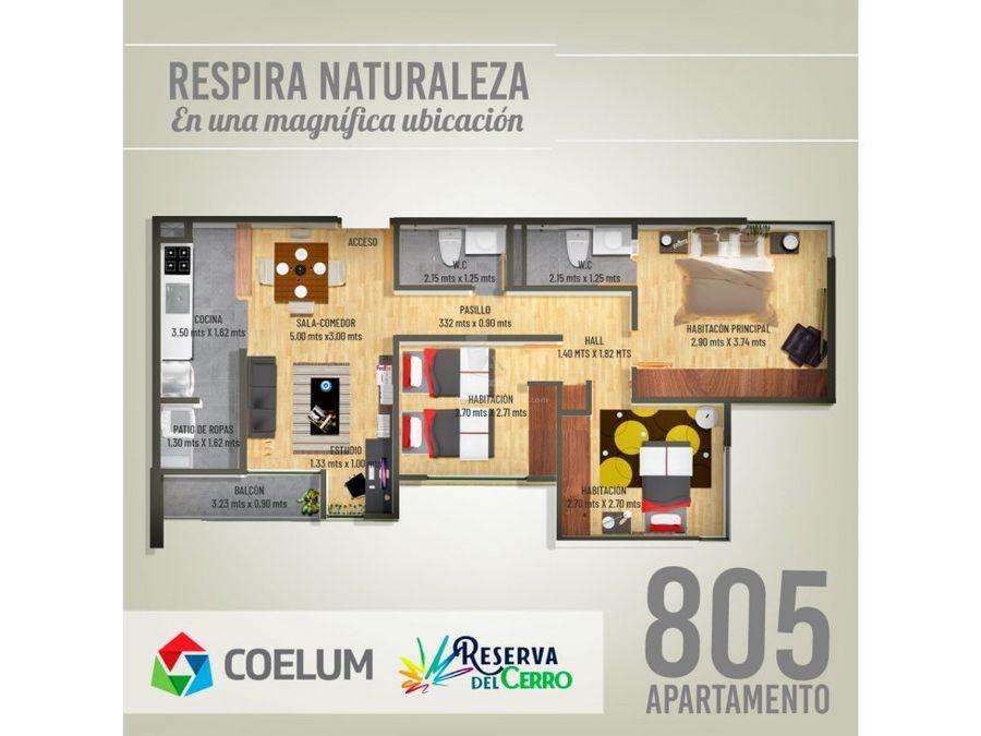 se vende apartamento bosques de niza