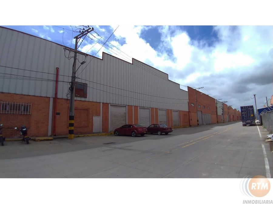 arriendo bodega en parque industrial en funza ic