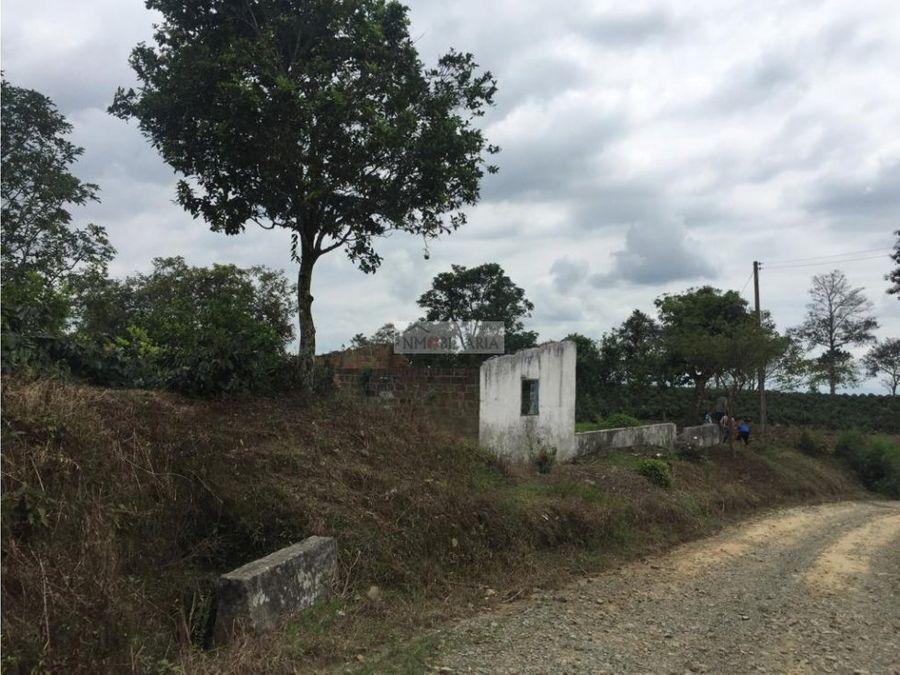 venta de lote rural en quimbaya quindio