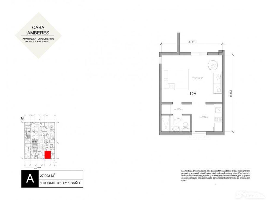 apartamento 12a en renta casa amberes zona 1