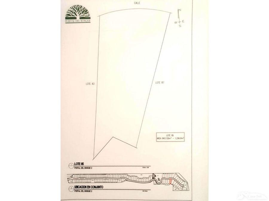 terrenos en venta en portal del bosque ii c1