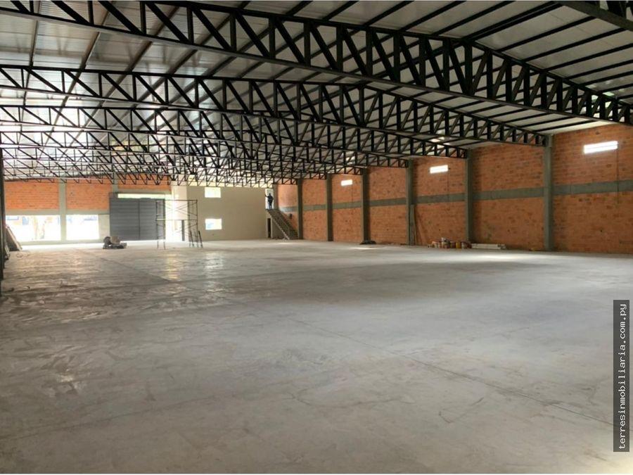 alquilo deposito a estrenar de 1250 m2 en mora cue luque