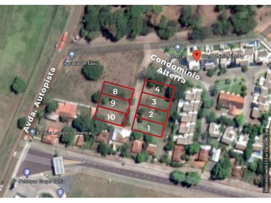 vendo terrenos luque zona aeropuerto