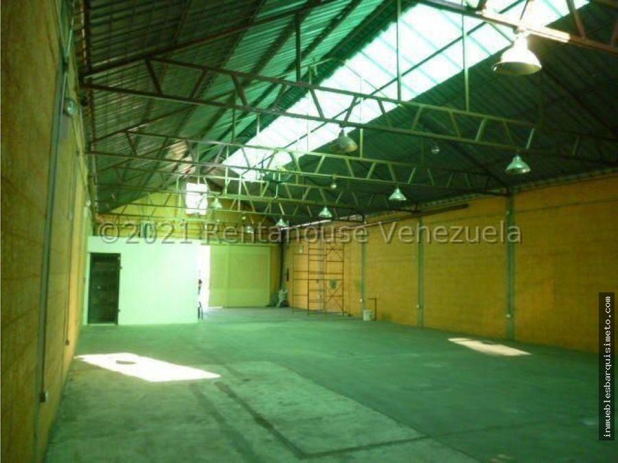 galpon en alquiler zona centro barquisimeto 22 2041 jcg