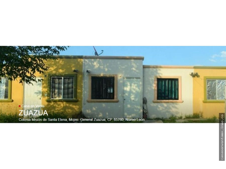 casa en venta col mision santa elena zuazua