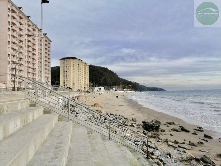 venta departamento en tome frente a playa bellavista de 50m2