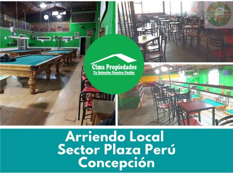 arriendo gran local comercial pool hall 8 mesas plaza peru