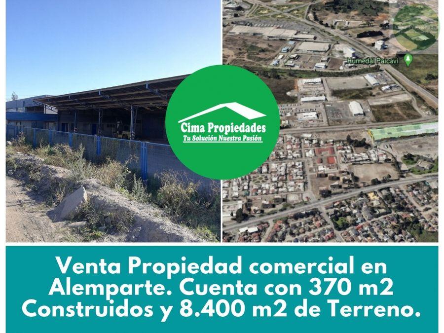 venta propiedad comercial hualpen sector alemparte 8400 m2