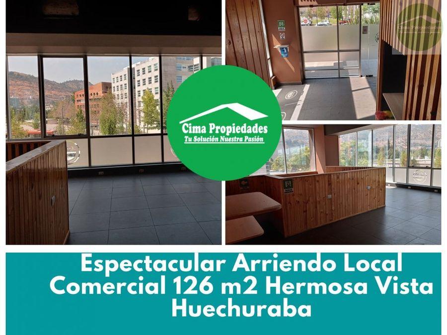 espectacular local comercial huechuraba ubicacion unica