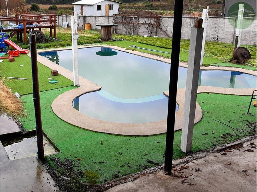 parcela piscina casa santa juana amoblada equipada