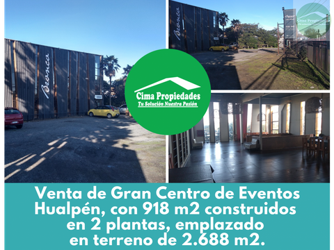 venta local 918m2 terreno de 2688m2 hualpen