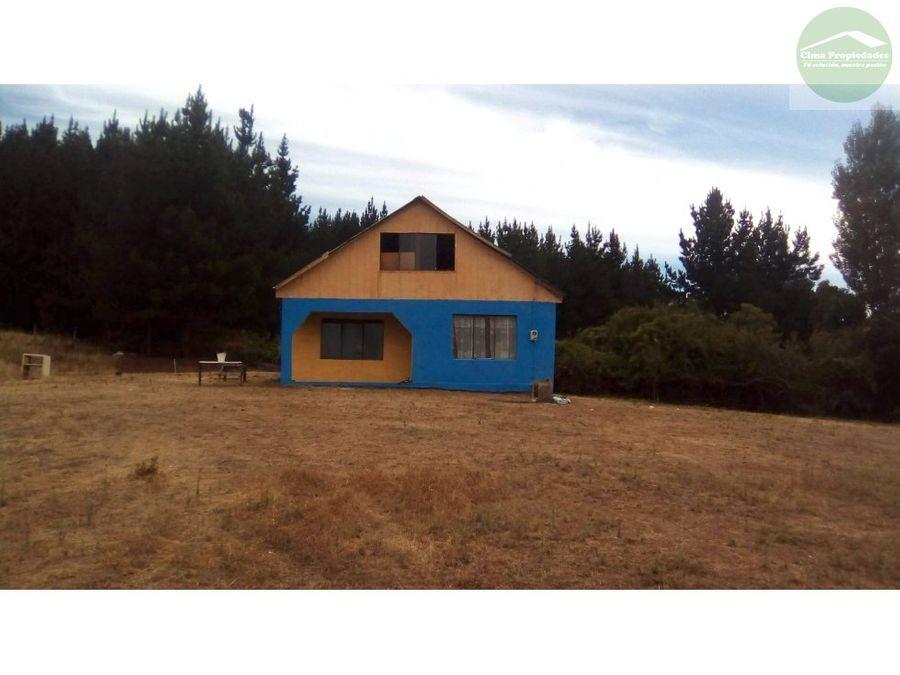 venta casa en gran parcela sector cambrales yumbel