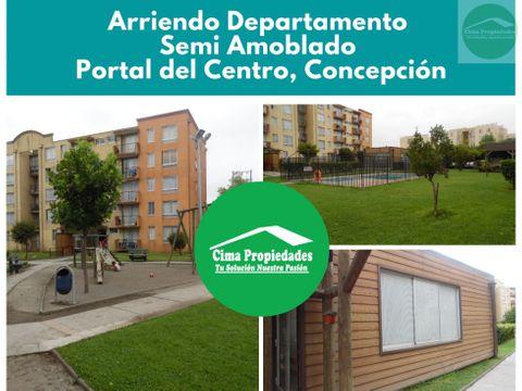 departamento semi amoblado portal del centro