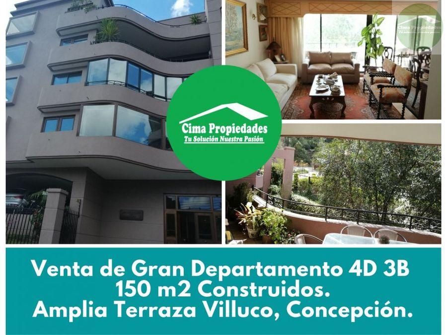venta gran departamento chiguayante villuco 150m2