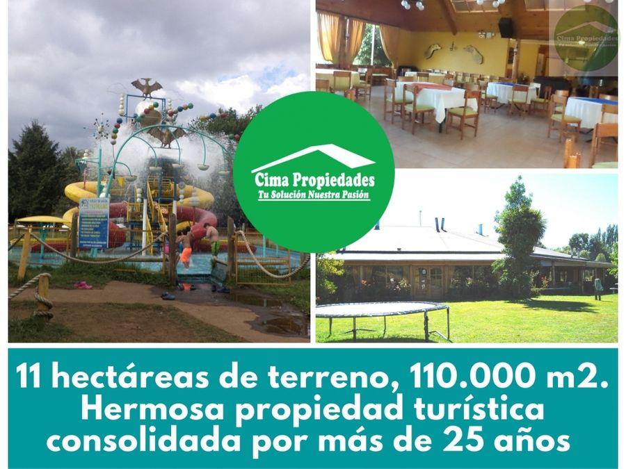 venta centro turistico restaurante y parque acuatico vilcun