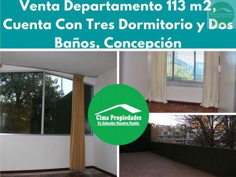 venta departamento frente a plaza independencia concepcion
