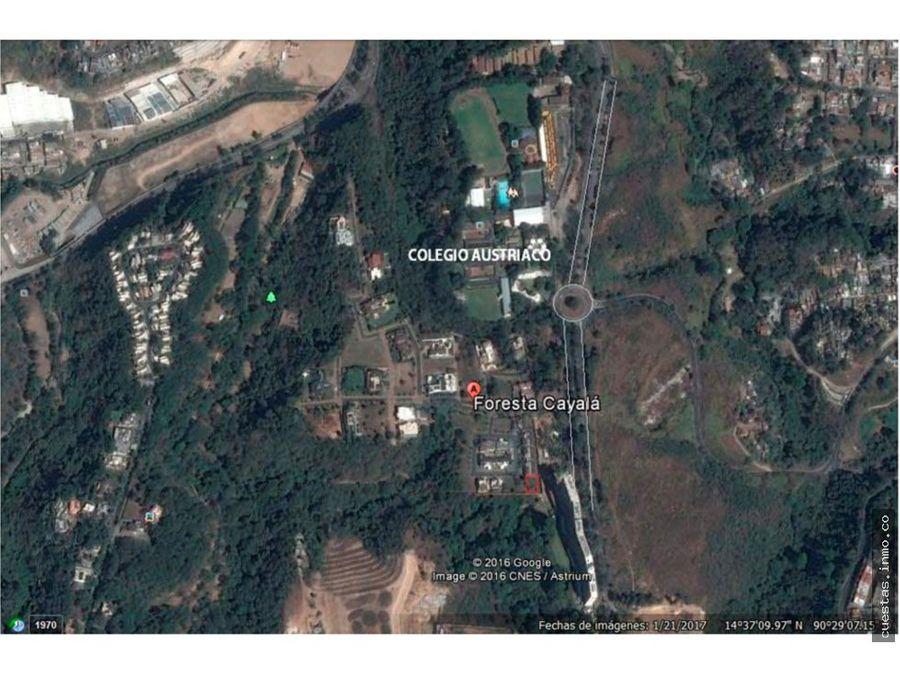 terreno foresta de cayala