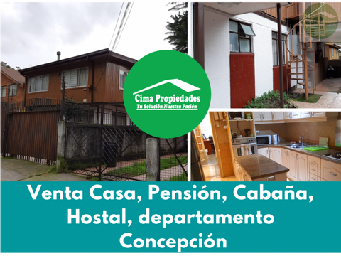 venta casa pension depto y cabana udec concepcion