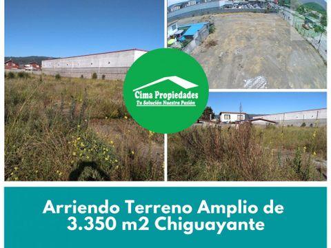 arriendo terreno amplio de 3350 m2chiguayante