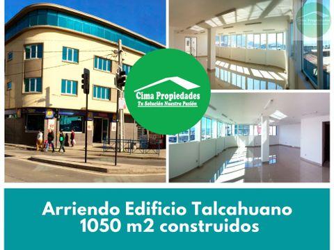 arriendo edificio talcahuano 1050 m2 construidos