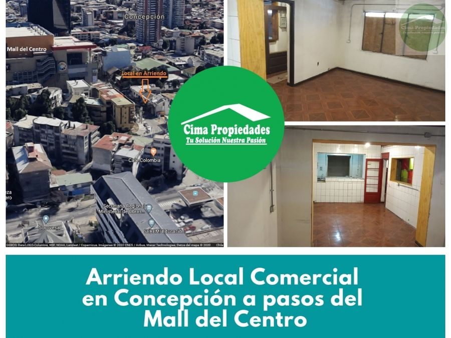 local en arriendo concepcion pasos mall del centro